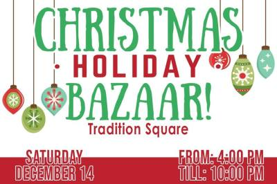 2nd Annual Christmas Holiday Bazaar at Tradition Square