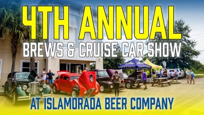 Brews and Cruise Car Show at Islamorada Beer Company