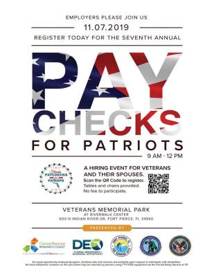 CareerSource Research Coast's Paychecks For Patriots 2019