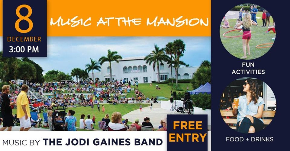 Music at the Mansion at Indian Riverside Park in Jensen Beach