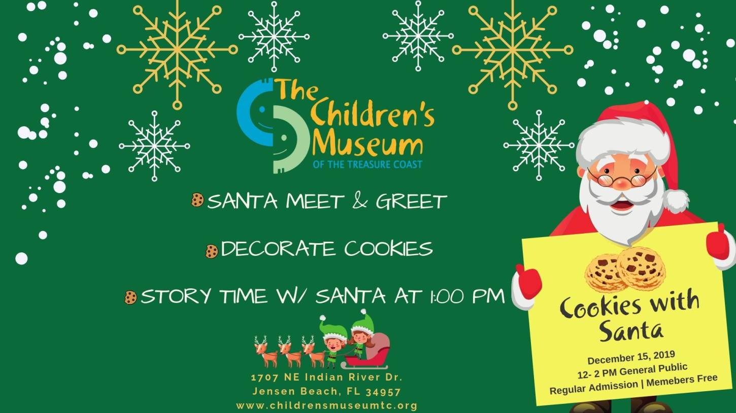 Cookies With Santa at the Children's Museum of the Treasure Coast