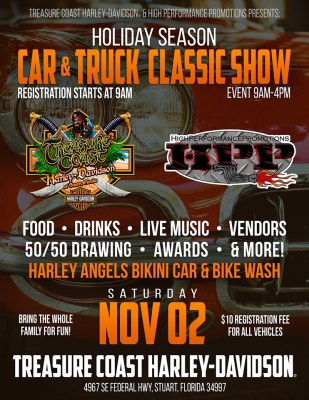 High Performance Promotions presents the Inaugural Holiday Season Bike, Car, & Truck Show