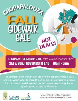 Shopapalozza - Fall Sidewalk Sale in Downtown Stuart