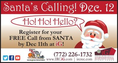 Santa's Calling! Register for your Free Phone Call from Santa