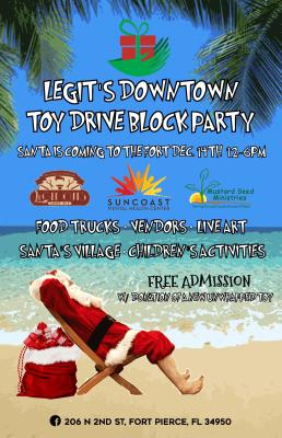 Legit's 5th Annual Downtown Toy Drive & Block Party at Legit Barber Shop