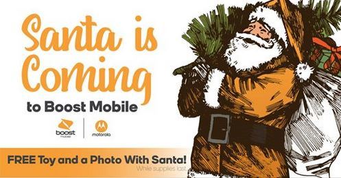 Santa is Coming to Boost Mobile