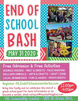 Port St Lucie End of School Bash at the Port St Lucie Community Center