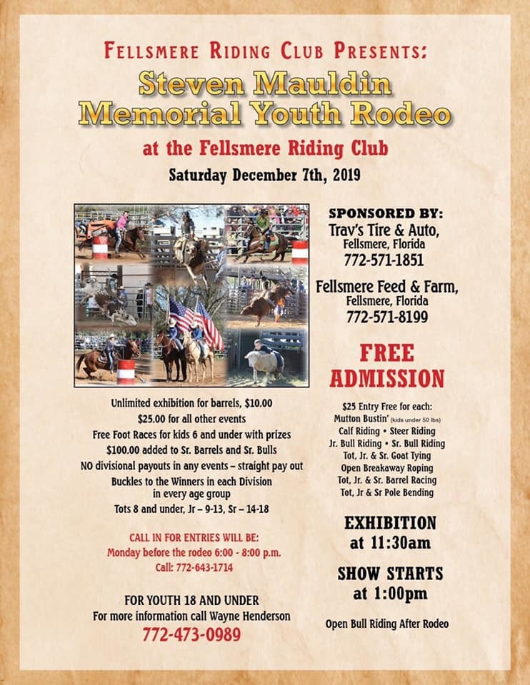 Steven Mauldin Memorial Youth Rodeo at the Fellsmere Riding Club