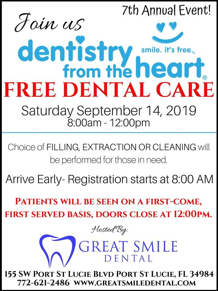 Annual Dentistry from the Heart at Great Smile Dental