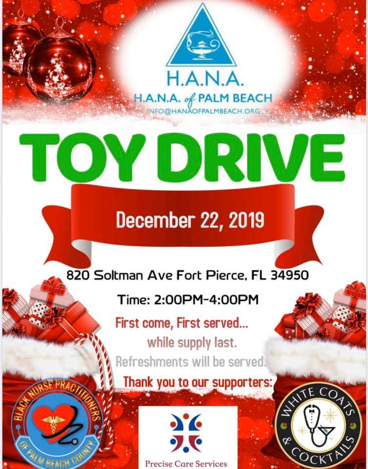 HANA of Palm Beach presents 1st Annual Toy Drive Giveaway