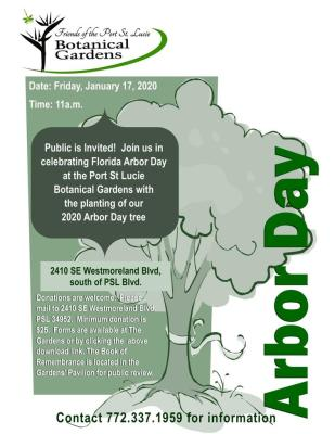 Florida Arbor Day Celebration at the Port St Lucie Botanical Gardens