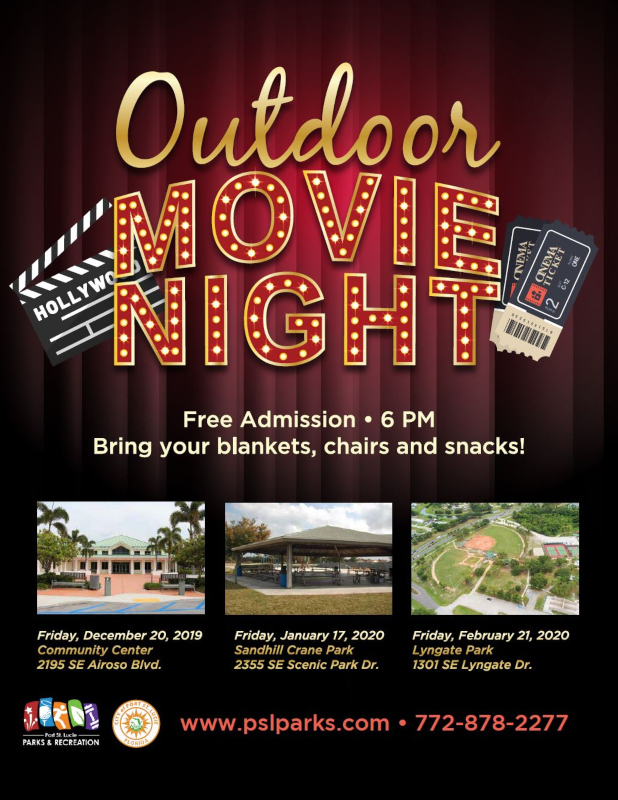 Port St Lucie Parks and Recreation hosts Outdoor Movie Night