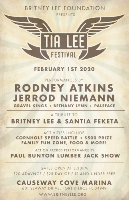 The Inaugural Tia Lee Festival at the Causeway Cove Marina