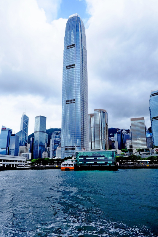 IFC building taken from a ferry boat