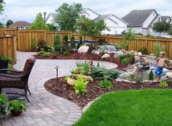 Paver Patio, Water Feature and Complete Landscape