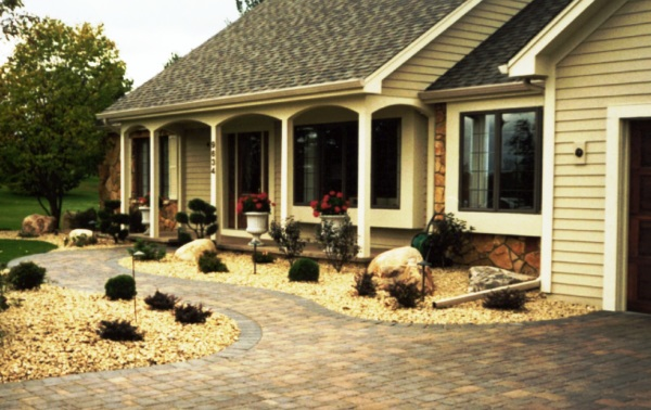 Paver Walkway, Driveway and Complete Landscape
