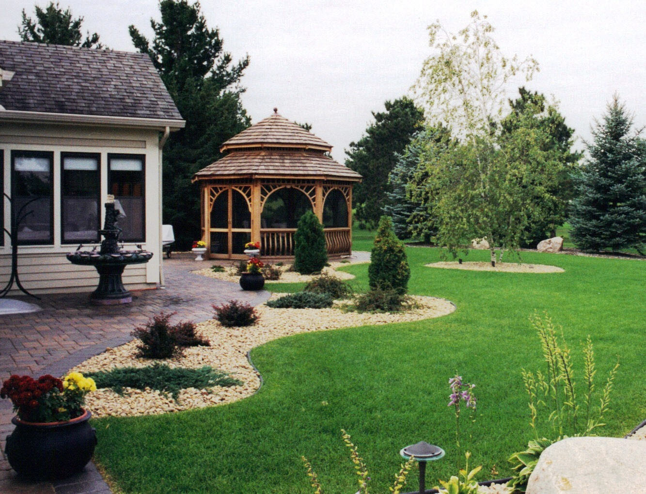 Paver Patio, Gazebo and Complete Landscape