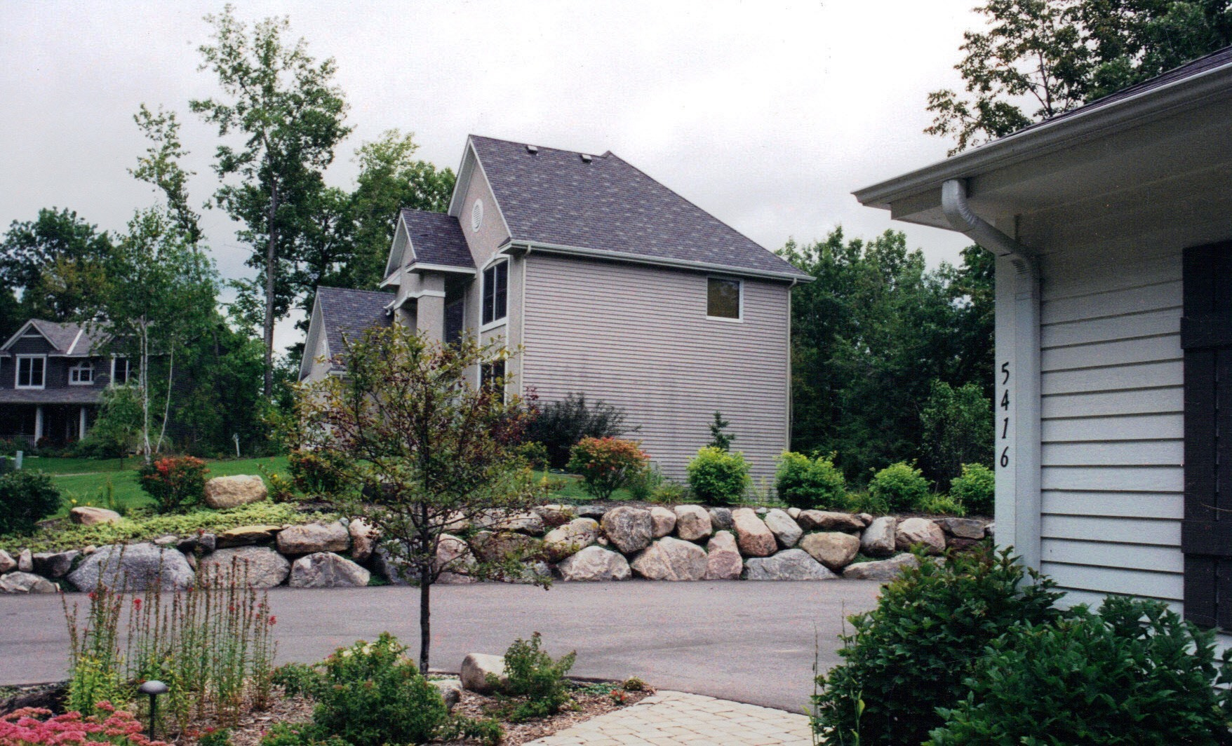 Boulder Wall and Complete Landscape