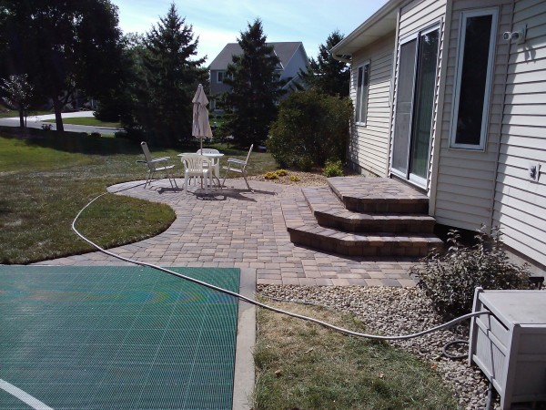 Paver Stoop and Paver Patio