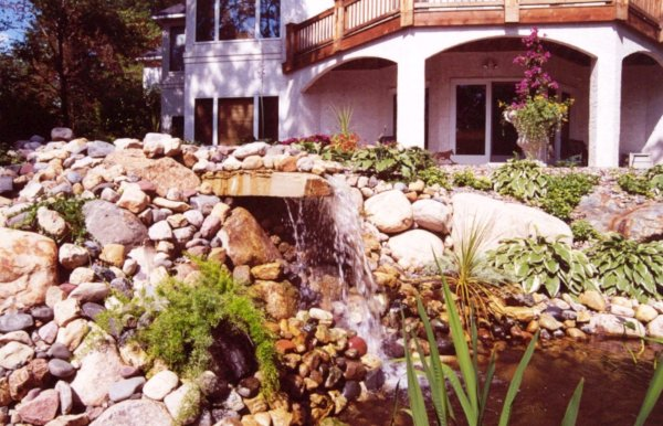 Water Feature and Complete Landscape