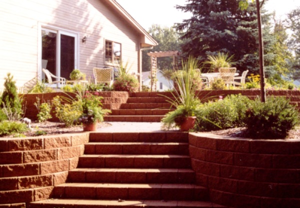 Block Staircase and Block Retaining Wall