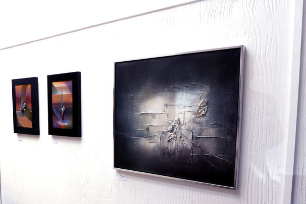 """""""Squares in a Square"""", to the left, was the second to sell"""
