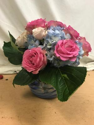 Rose and Hydrangea Cube