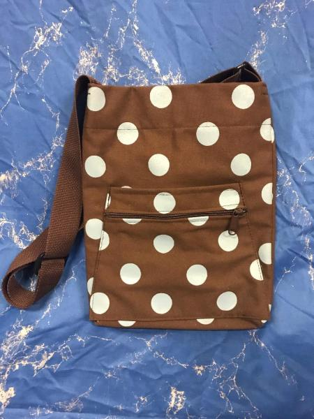 Brown and Blue Baby Bag