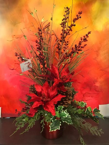 Christmas Tall Silk Arrangement