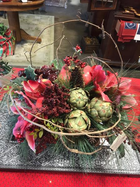 Christmas Basket Arrangement