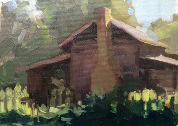 SUMMER RETREAT     5x7     Oil