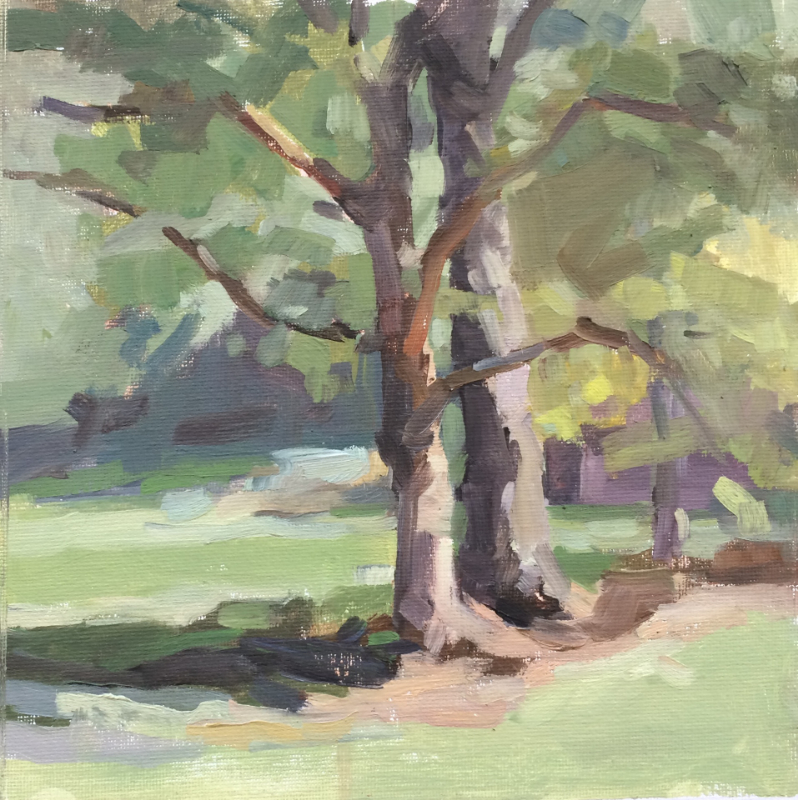 BRYANT CREEK TREES     8x10     Oil