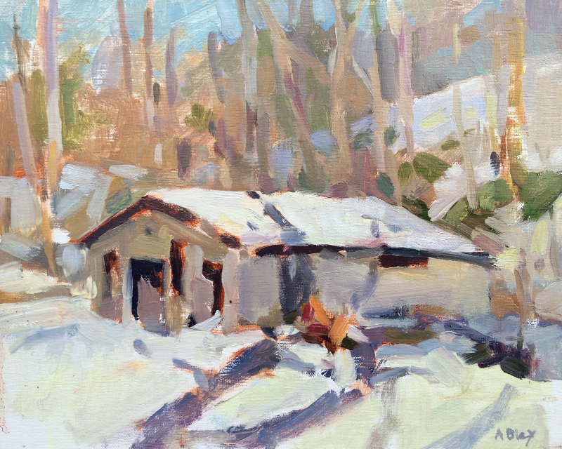 WINTER DAY, WAYCROSS     8x10     Oil