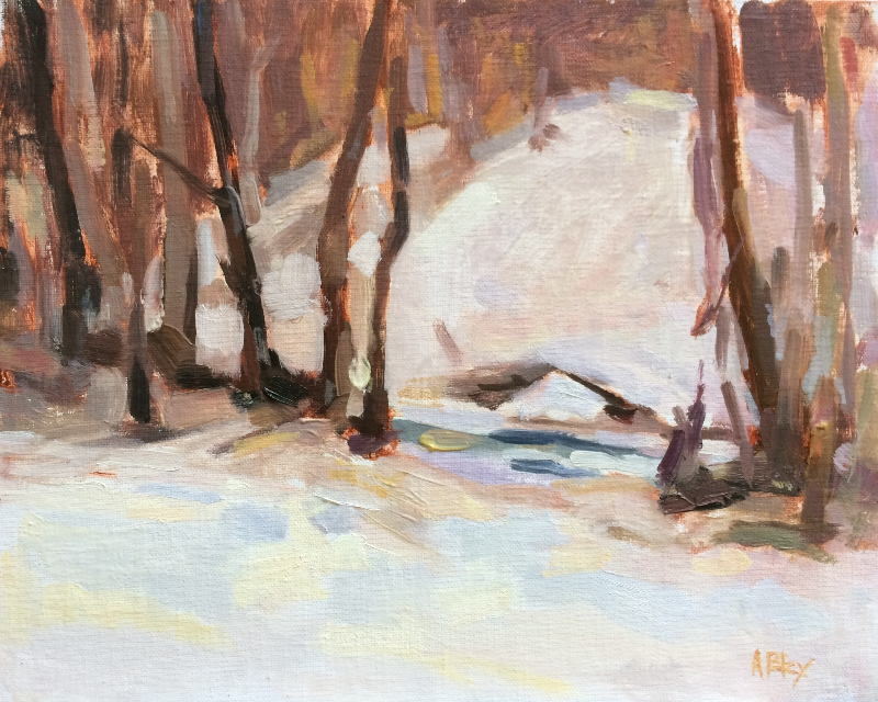WAYCROSS SNOW DAY     8x10     Oil
