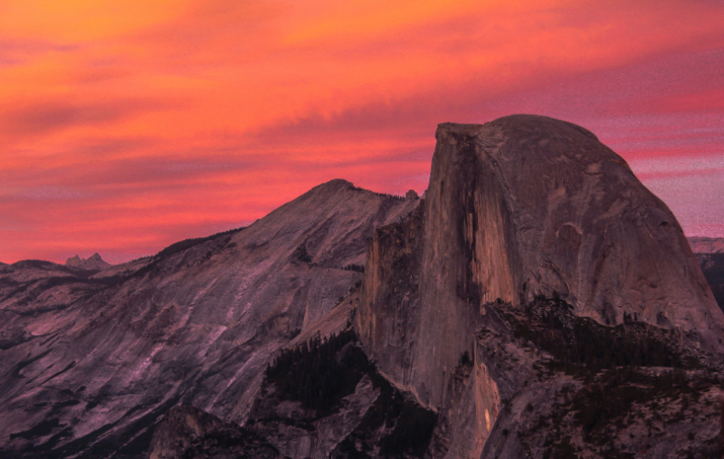 Alpine Glow on Half Dome