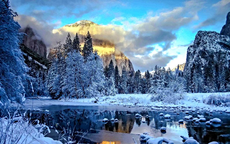 Yosemite Winter Valley View