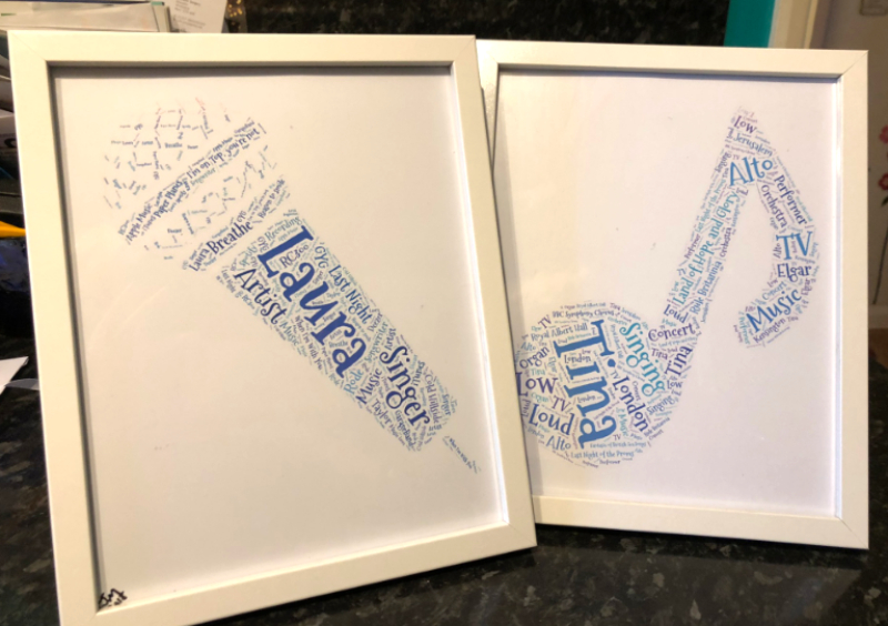 Beautiful word art gifts posted out today.
