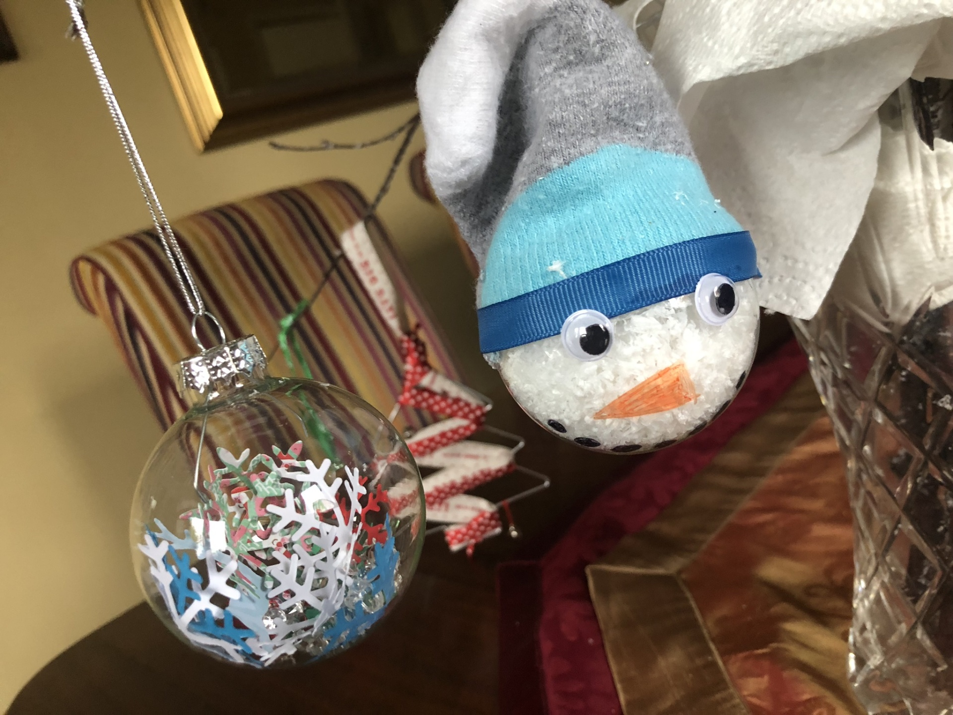 Snowman Bauble - very cute and affordable. More can be made to order,