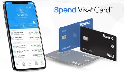Dash wird alltagstauglicher, indem es in die Spend App und deren VISA-Karte integriert wird