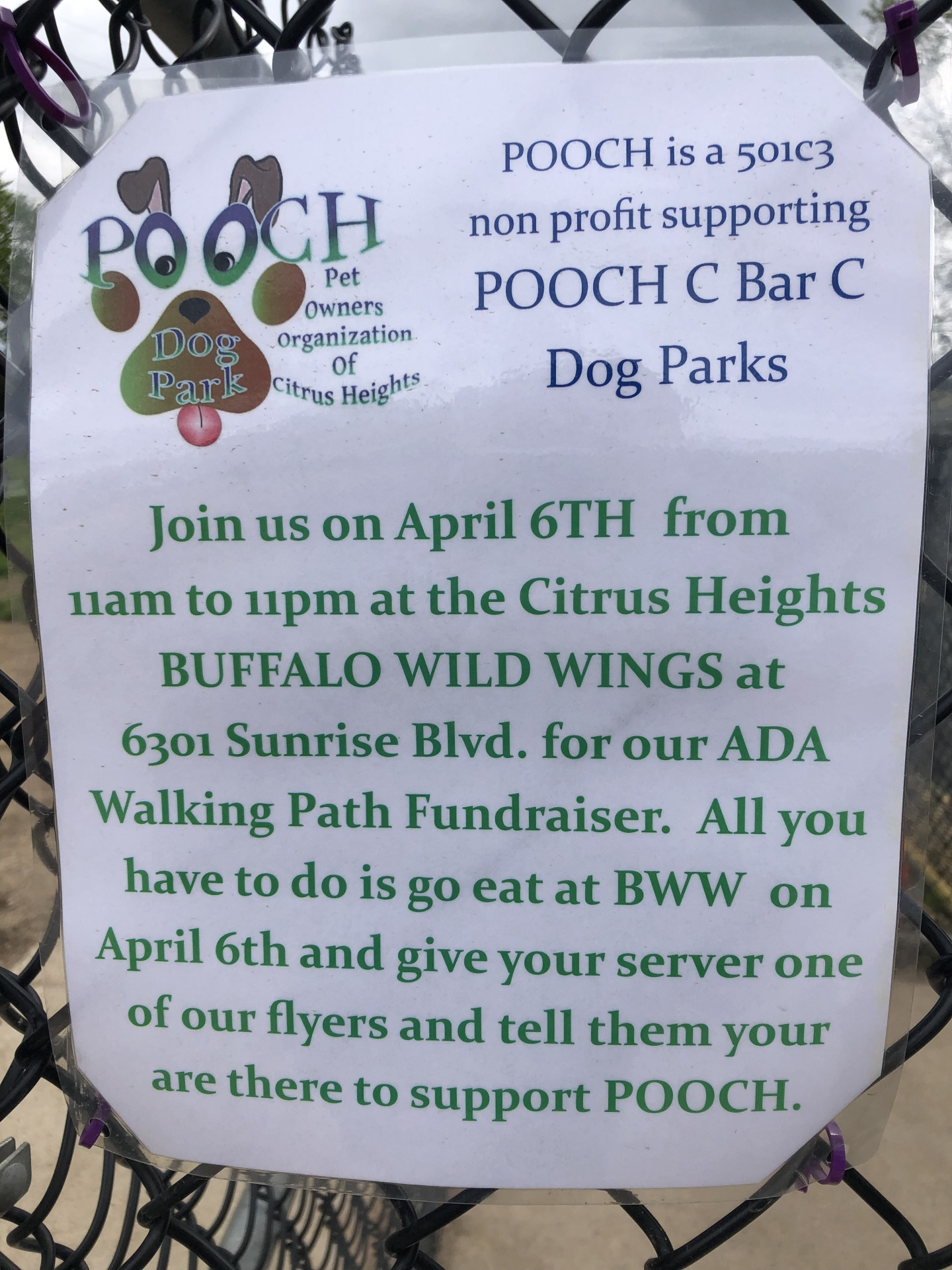 POOCH Fundraiser April 6, 2019
