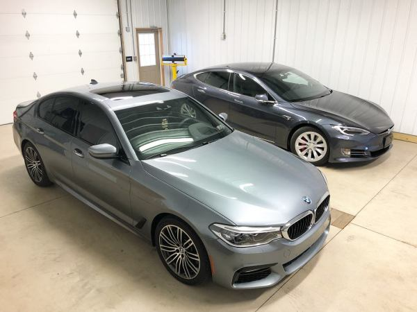 BMW 5 Series & Tesla Model S