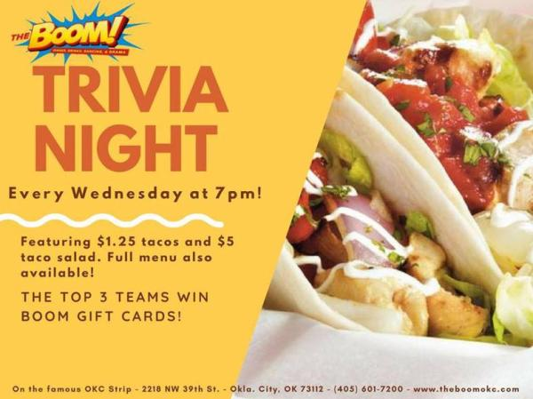 Trivia Night at The Boom!