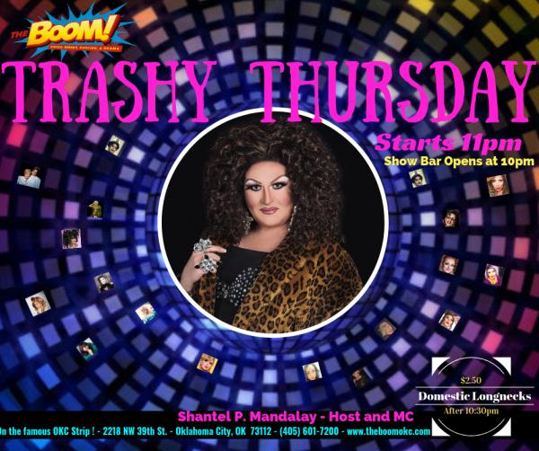 Trashy Thursday at The Boom!