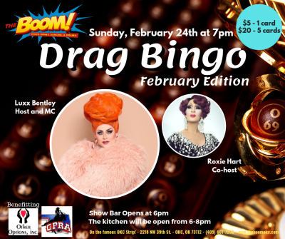 Drag Bingo at The Boom!