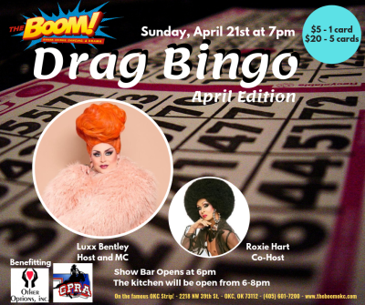 DRAG BINGO at The Boom!