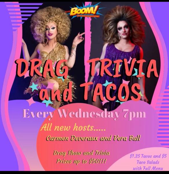 Drag Trivia Night at The Boom!