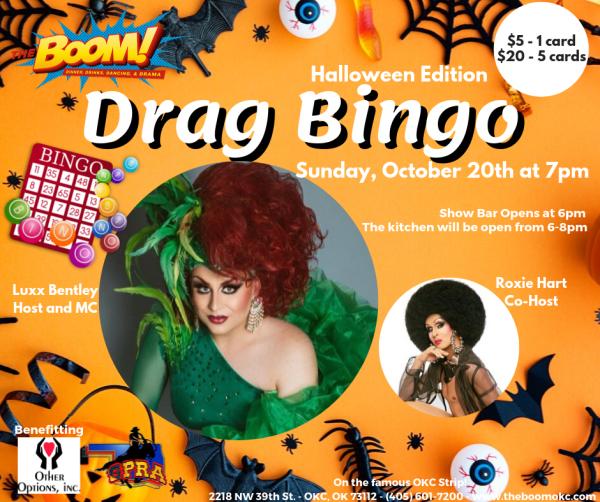 Drag Bingo at The Boom