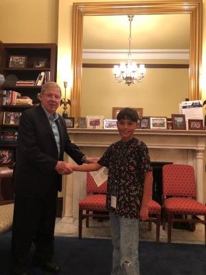 Gabriel with Senator Isakson