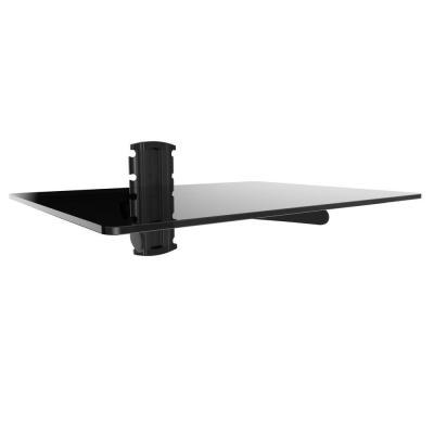 single glass floating shelf