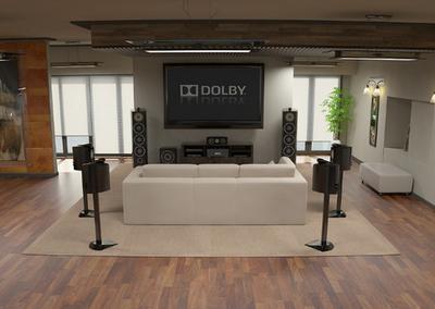 7.1 surround sound in room
